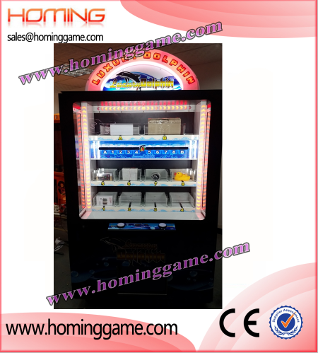Luxury Dolphin ICUBE PRIZE GAME,Icube prize game,Icube prize arcade game,cube prize game machine,game machine,key master prize game machine,coin operated game machine,indoor game machine,electrical slot game machine,arcade game machine for sales,amsuement park game equiopment,vending prize game machine,prize vending machine,vending machine,gift game machine,gift machine,new crane machine