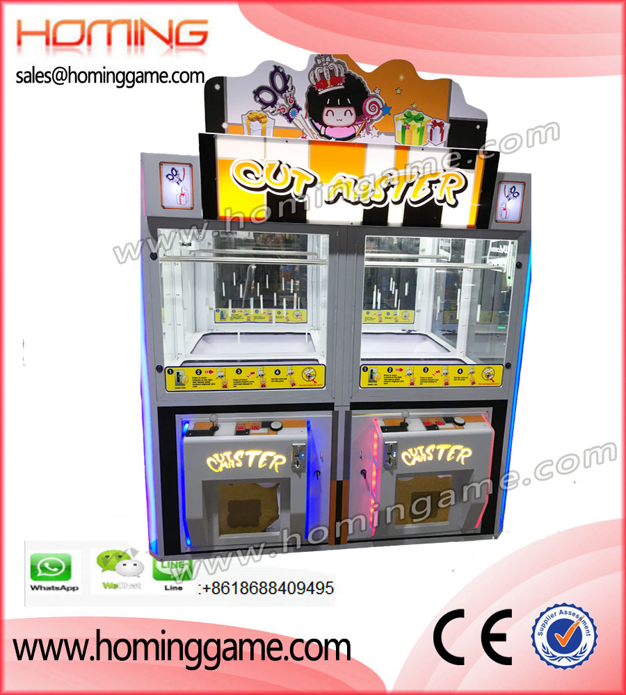 Luxury Double Barber Cutting Master Prize Game,Hot Prize Game,Barber Cut Prize Game,Barber cut,Cut Prize Game Machine,Cut String Prize Game,Cut Ur Prize Game Machine,Cut Master,Cutting Master prize arcade game machine,Game Machine,Arcade Game Machine,Coin Operated Game Machine,Prize Redemption Game Machine,Redeption Game Machine,Prize Machine,Indoor Game Machine,Prize Vending Machine,Vending Machine,Family Entertainment Game,Entertainment Game,Gaming Machine